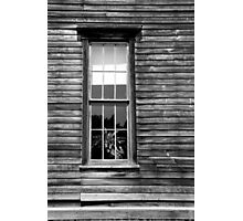 Hotel Window Fayette State Park BW Photographic Print