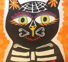Dia De Los Muertos Gato  by OvaryActing