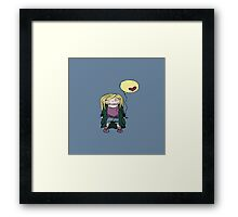 Blondy girl with baloon Framed Print