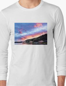 Sky Fire Sunset. Photo Art, Prints, Gifts, and Apparel. Long Sleeve T-Shirt