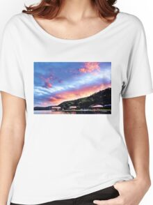 Sky Fire Sunset. Photo Art, Prints, Gifts, and Apparel. Women's Relaxed Fit T-Shirt