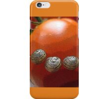 Tomato with a snail smile iPhone Case/Skin