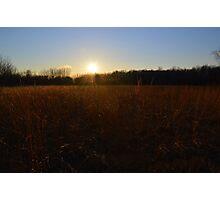Sunset Field Photographic Print