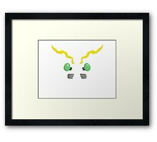 Digimon Tentomon No Outline Framed Print