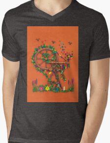 Spinning Time - Spinning Wheel Art Mens V-Neck T-Shirt