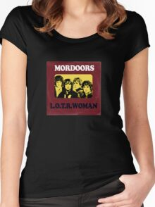 Mordoors (vinyl square version) Women's Fitted Scoop T-Shirt