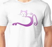 Om Kitty - Purple Fade Unisex T-Shirt