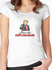 Adorable Deplorables Women's Fitted Scoop T-Shirt