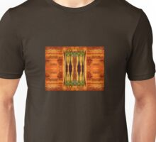Earth Tones Woven Tapestry Design Unisex T-Shirt