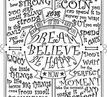 Dream Believe Be Happy by papabuju