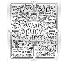 Dream Believe Be Happy Poster