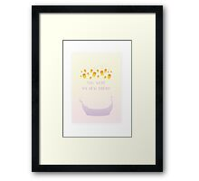You Were My New Dream Framed Print