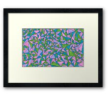 Colorful Triangle Pattern  Framed Print