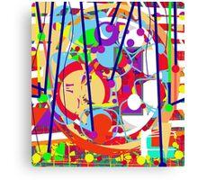 Colorful decorative art Canvas Print