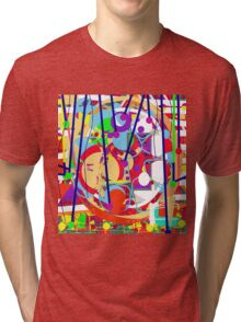 Colorful decorative art Tri-blend T-Shirt
