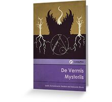 De Vermis Mysteriis Greeting Card