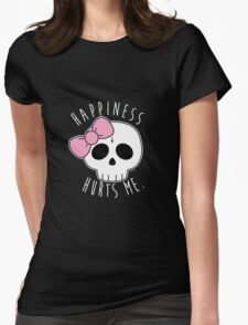Happiness Skull Womens Fitted T-Shirt