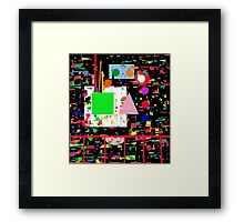 Colorful factory Framed Print