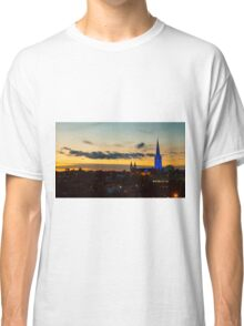 Blue Lit Sacred Heart Cathedral at Nightime - Bendigo, Victoria Classic T-Shirt