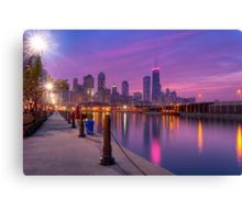 City Dreams - Chicago Skyline at Sunset Canvas Print