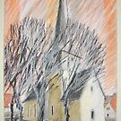 Feininger - Kirche by HannaAschenbach