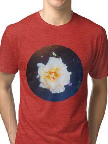 VINTAGE WHITE FLOWER Tri-blend T-Shirt