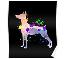 German Pinscher Colorful Dog Gift Shirt For Kids & Adult Poster