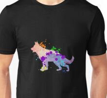 German Shepherd Puppy Colorful Dog Gift Shirt | Kids & Adult Unisex T-Shirt