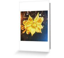 VINTAGE GOLD FLOWER Greeting Card