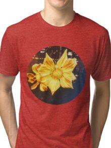 VINTAGE GOLD FLOWER Tri-blend T-Shirt
