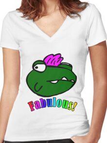 Fab Monster Women's Fitted V-Neck T-Shirt