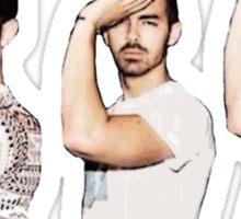 Jonas Brothers Popping a Gamma Sticker