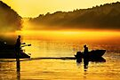 Distance Between Us - Chattahoochee River Sunrise by Mark Tisdale