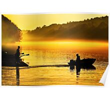 Distance Between Us - Chattahoochee River Sunrise Poster