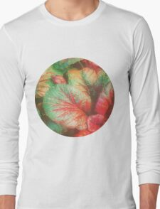 RED GREEN LEAFY PLANT Long Sleeve T-Shirt