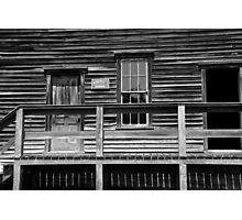 Town Hall Fayette State Park 2 BW Photographic Print
