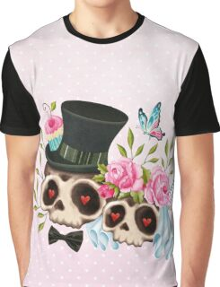 Together Forever - Sugar Skull Bride & Groom Graphic T-Shirt