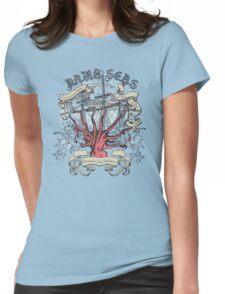 Dark Seas. Womens Fitted T-Shirt