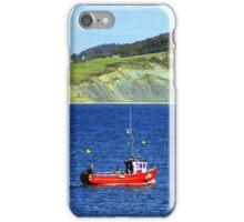 Fishing boat on the jurassic coast iPhone Case/Skin
