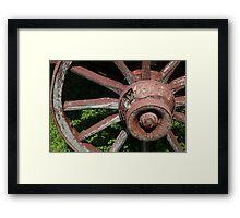 Wagon Wheel 2 BW Framed Print
