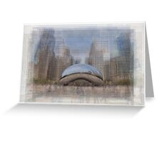 Gloud Gate, Chicago Bean Greeting Card