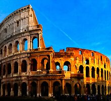 Roma Colosseum Antiqua - Italy by Mark Tisdale