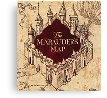 Marauders Map Canvas Print