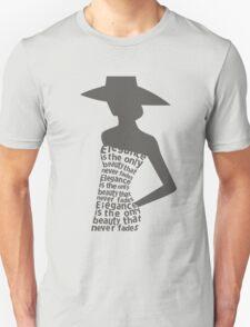 Silhouette woman in dress Unisex T-Shirt