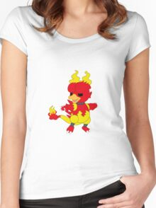 Chibi Magmar Women's Fitted Scoop T-Shirt
