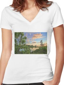 Florida's Natural Beauty 2  Women's Fitted V-Neck T-Shirt