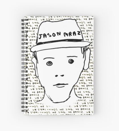 Jason Mraz Album Cover Sticker Spiral Notebook
