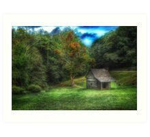 Cabin on the Parkway Art Print