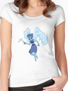 Lapis Lazuli Watercolor Women's Fitted Scoop T-Shirt
