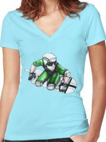 Skycutter Women's Fitted V-Neck T-Shirt